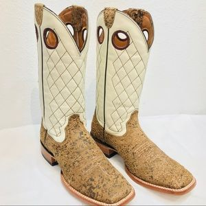 Ariat Square Toe Western Cowboy Boots - RARE STYLE